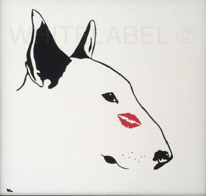 Stunning Pieces Of Bull Terrier Art Bullymake Box A Dog - Bull terrier art